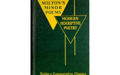 Milton's Minor Poems BY John Milton